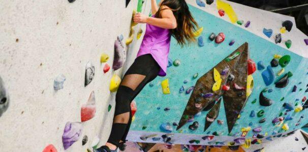 Climb at New Orleans Boulder Lounge