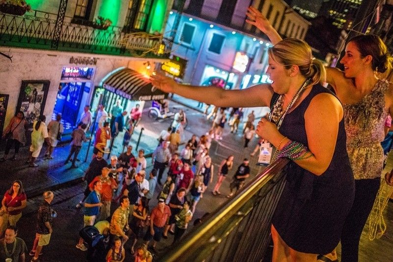 New Years Eve Bourbon Street Balcony Party