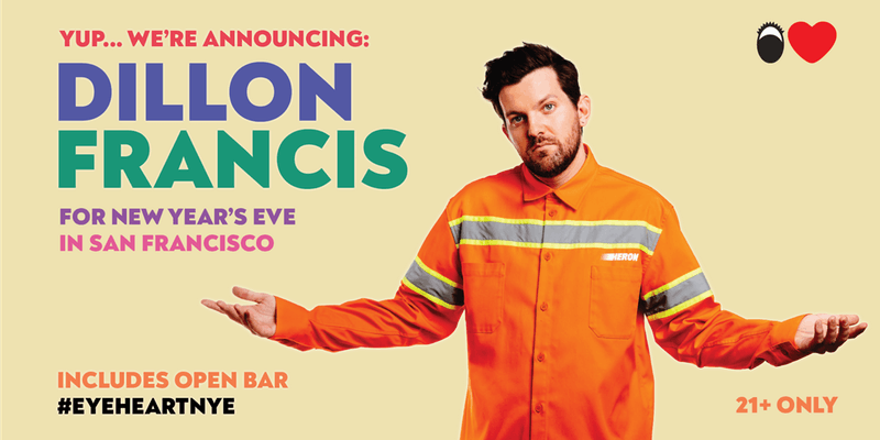 New Year's Eve with Dillon Francis in San Francisco