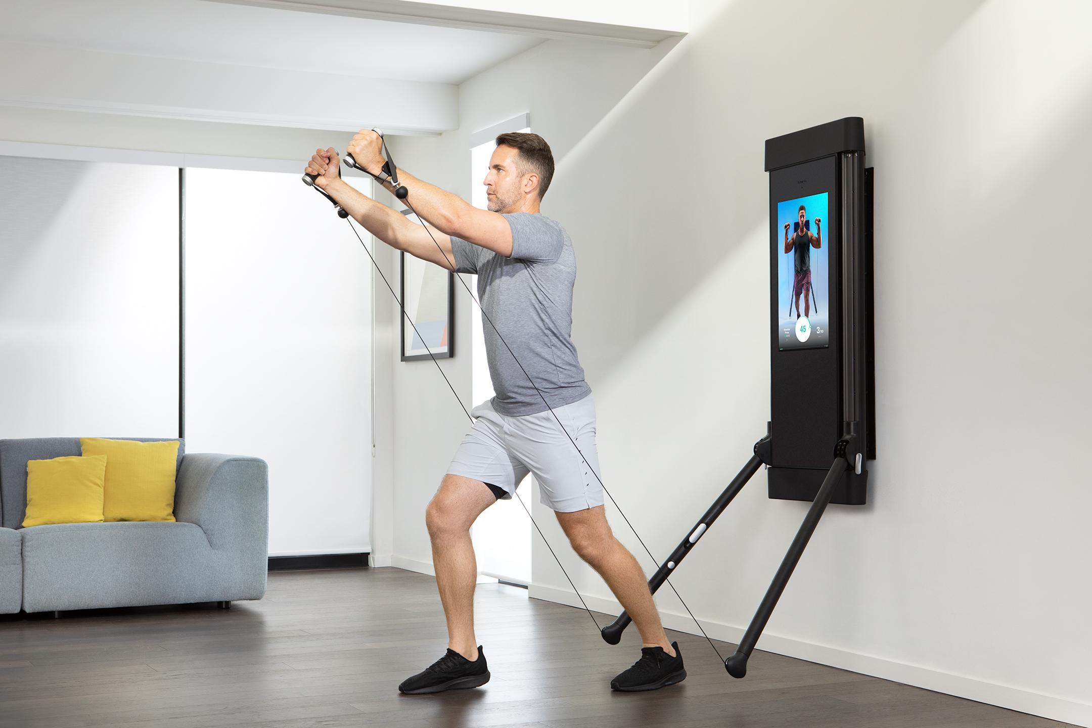 Tonal workout machine shoulders